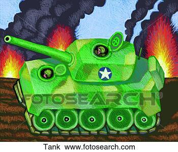 手绘图 - 坦克