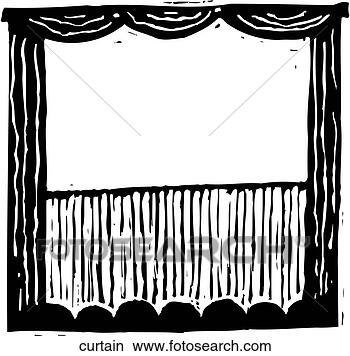 Stage Curtains Clipart Black And White
