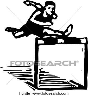 Clipart Hurdle Fotosearch Track And Field Clipart Hurdles