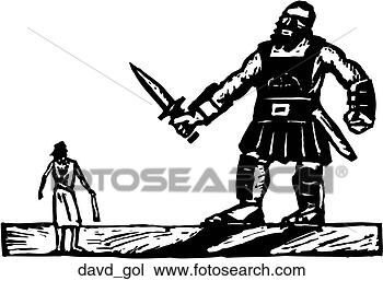 Clipart of David and Goliath davd_gol - Search Clip Art ...