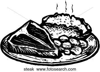 Clipart of Steak steak - Search Clip Art, Illustration ...