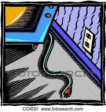 Banque d'Illustrations - débranché, télévision. fotosearch - recherchez des cliparts, des illustrations, des dessins et des images vectorisées au format eps