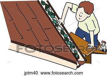 Stock Illustrations Of Roof And Gutters Jptm40 Search