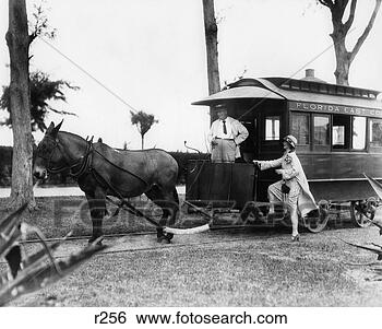 Stock Images of 1920S Woman Stepping Up Onto Mule-Drawn ...