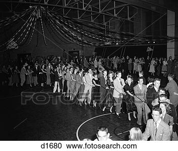 Stock Photography - 1950s high school 