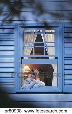 Stock Photo - girl looking out window. fotosearch - search stock photos, pictures, images, and photo clipart