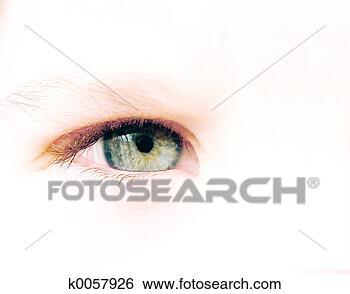 - 孩子, 眼睛