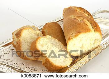 Arquivo de Fotografia - pão, bandeja.  fotosearch - busca  de fotos, imagens  e clipart