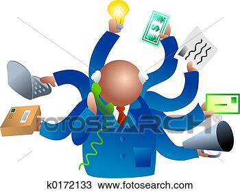 Stock Photo - busy business.