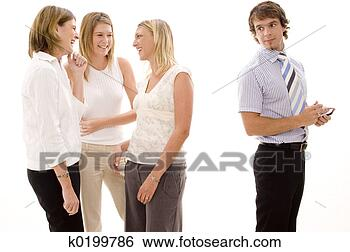 Stock Photo - office gossip.  fotosearch - search  stock photos,  pictures, wall  murals, images,  and photo clipart