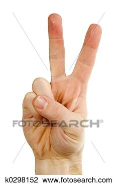 Stock Photo - two fingers. fotosearch 