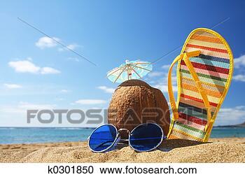 Arquivo de Fotografias - verão, praia,  cena. fotosearch  - busca de fotos,  imagens e clipart