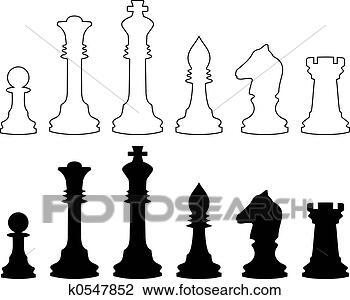 国际象棋棋子图片