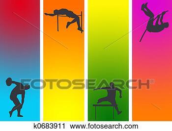 运动边框背景图片