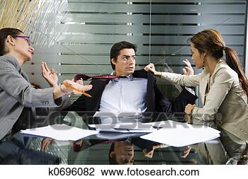 Stock Photo - business fight. fotosearch - search stock photos, pictures, wall murals, images, and photo clipart