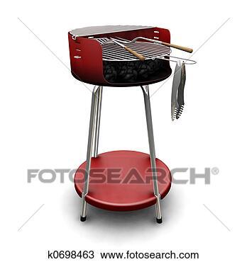 手绘图 - 野外烧烤