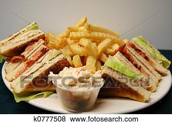 Stock Photo - turkey club sandwich.  fotosearch - search  stock photos,  pictures, images,  and photo clipart