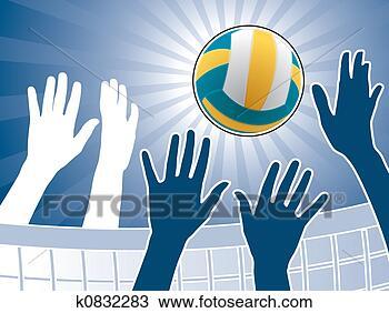 手绘图 - 排球