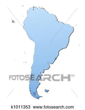 南美洲, 地图