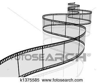 Stock illustration photographic film reel fotosearch search