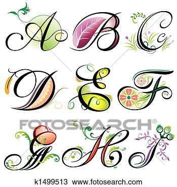 动物字母手绘图