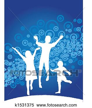 Banco de Imagem - crianças, pular.  fotosearch - busca  de fotos, imagens  e clipart