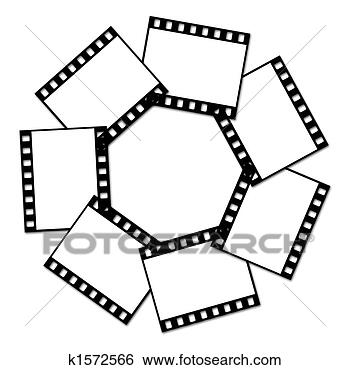 Stock illustration film strip fotosearch search clip art
