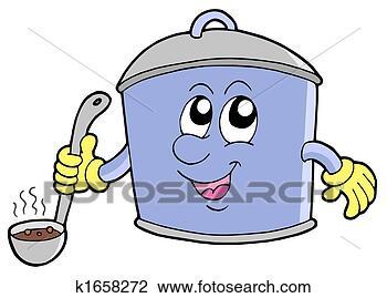Art cartoon cooker pot fotosearch search clipart illustration