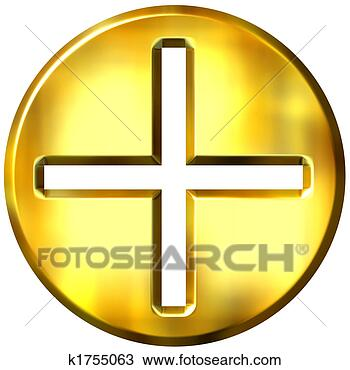 Stock Photo - 3d golden famed  addition symbol.  fotosearch - search  stock photos,  pictures, images,  and photo clipart