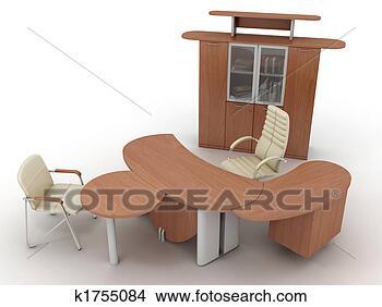 书桌 椅 椅子 桌图片