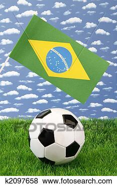 Banco de Imagem - brasileiro, futebol.  fotosearch - busca  de fotos, imagens  e clipart