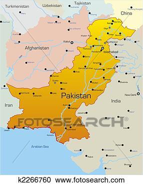 地图, .的, 巴基斯坦