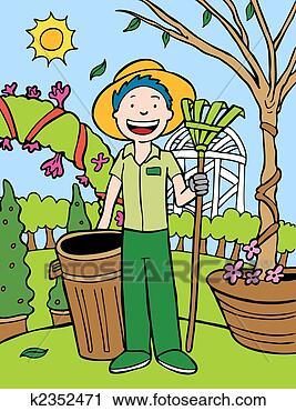 Clipart jardinero caricatura k2352471 buscar clip art for Jardinero en ingles