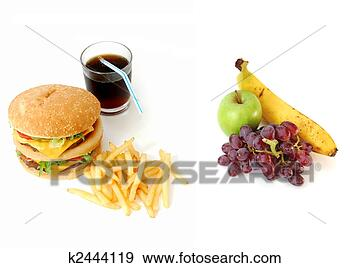 Stock Photograph of Healthy or unhealthy food? k2444119 - Search ...