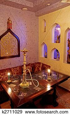 Stock Photograph - hookah smoking  place. fotosearch  - search stock  photos, pictures,  images, and photo  clipart