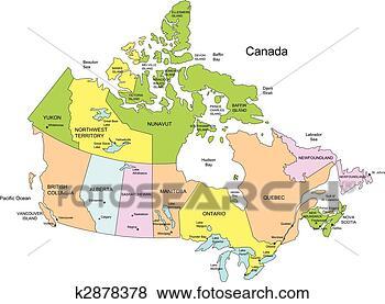加拿大地图, 10, 省, 以及