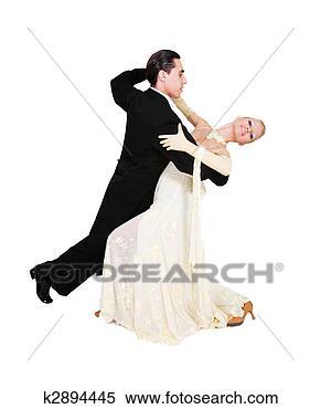 Banco de Imagem - jovem, par, dançar,  branca. fotosearch  - busca de fotos,  imagens e clipart