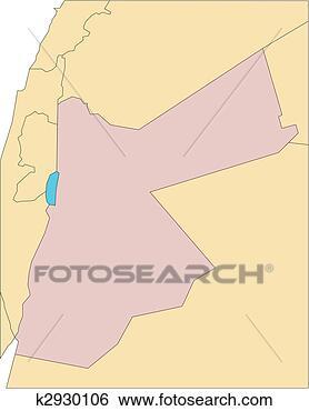 2014以色列约旦地图