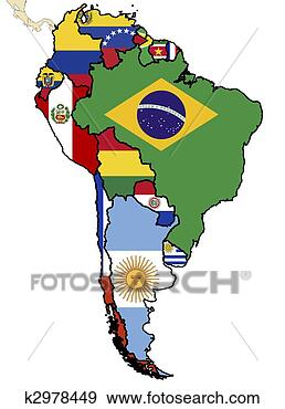 地图, .的, 南方美国人