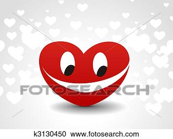 Stock Photography - heart smile icon. fotosearch - search stock photos, pictures, images, and photo clipart