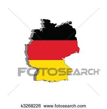 - 德国, 地图