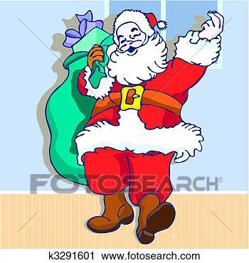剪贴画 - 圣诞节., 圣诞老人