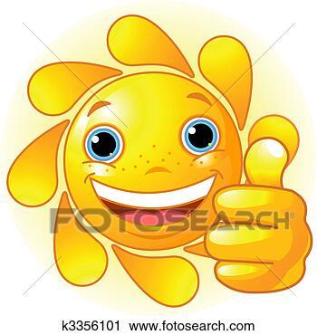 太阳, 手, 给