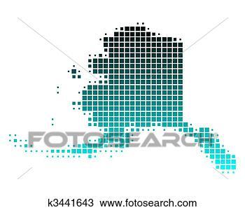 地图, 阿拉斯加