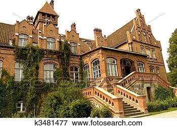 Foto - jaunmoku, palácio,  latvia. fotosearch  - busca de fotos,  imagens e clipart