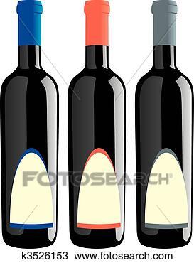 手绘图 - 隔离, 酒瓶子