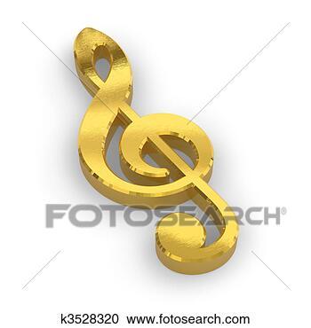 黄金, 高音谱号