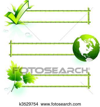 手绘图 - 竹子, 边界,