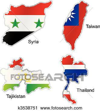 旗, 在, 地图