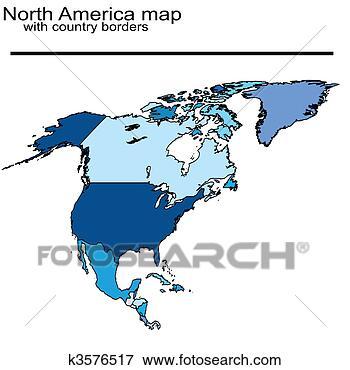 北美洲, 地图